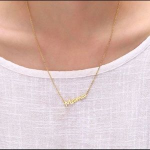 Jewelry - Mama Plated Necklace